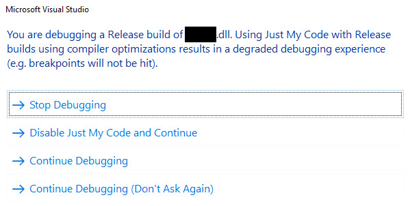 loi-you-are-debugging-a-release-build-of-dll-visual-studio-2015.jpg