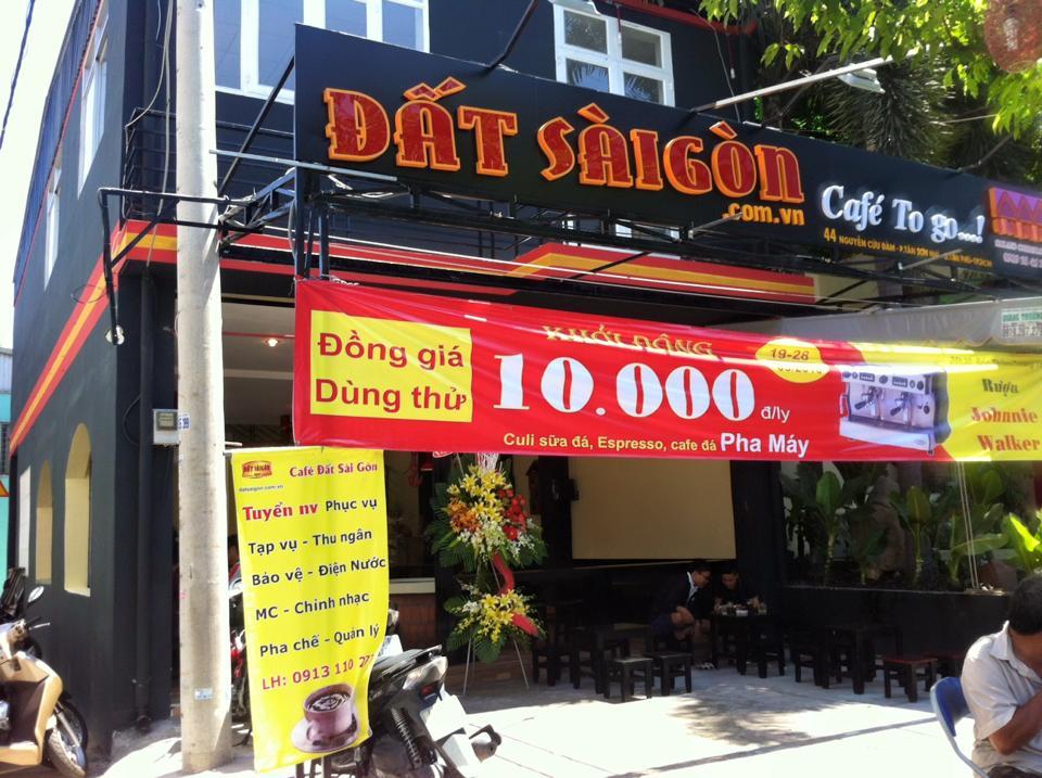 Quán Cafe Đất Sài Gòn tại Tân Phú