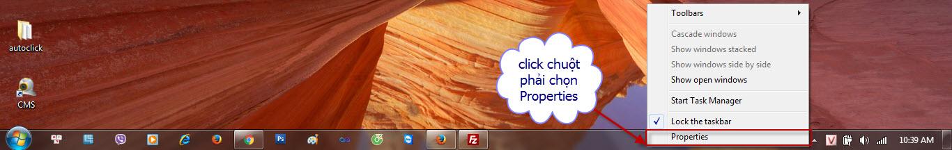 Click chuột phải chọn Properties trong máy tính