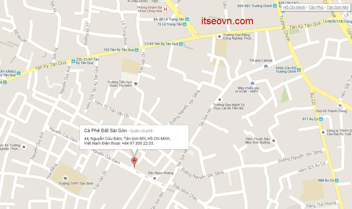 Địa điểm, đỉa chỉ quán cafe số 44 Nguyễn Cửu Đàm, Tân Phú