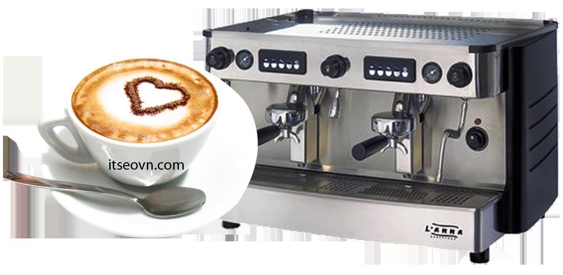 Ly cafe espresso và máy pha cafe tại quán