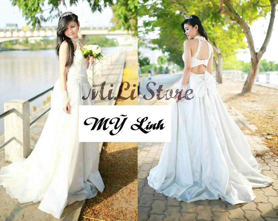 Lê Thị Mỹ Linh trong trang phục áo cưới quyến rũ xinh đẹp