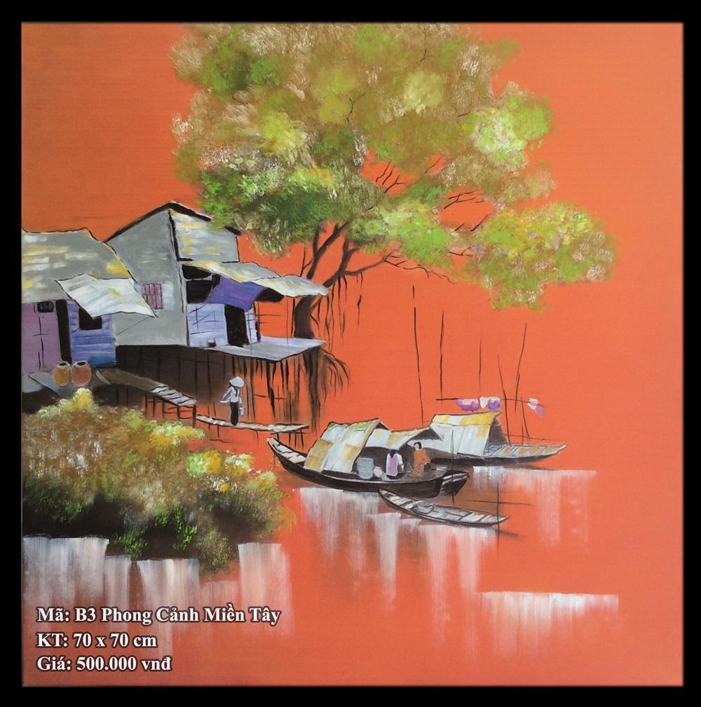 Tranh sơn dầu B3 Phong Cảnh Miền Tây - Phạm Văn Thưởng