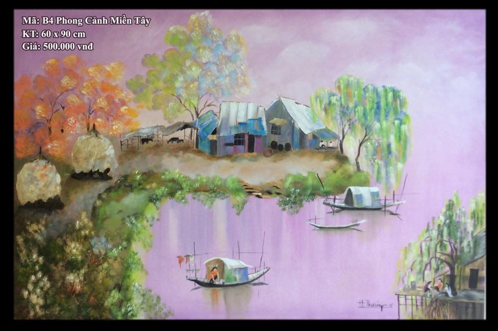 Tranh sơn dầu B4 Phong Cảnh Miền Tây - Phạm Văn Thưởng