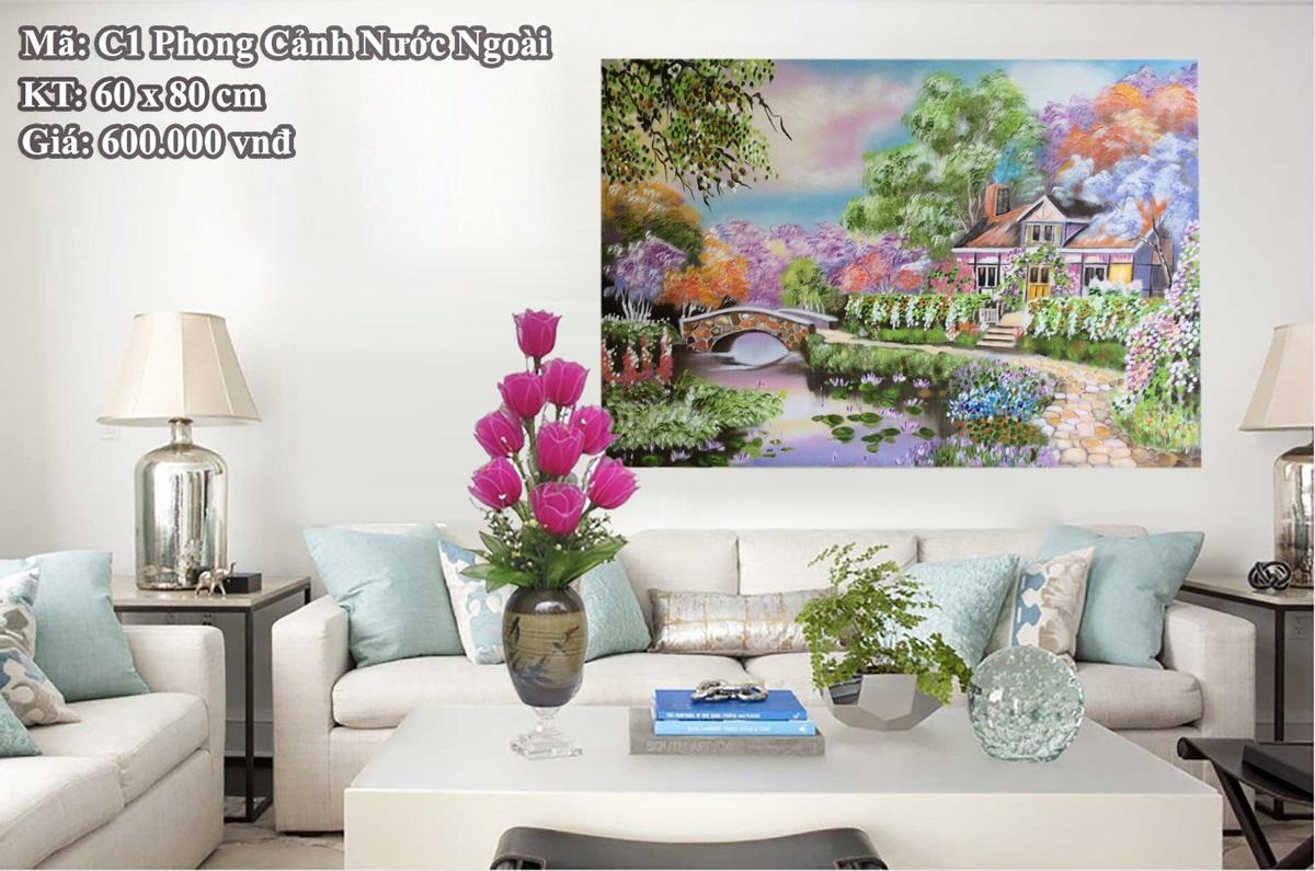 Tranh sơn dầu c1 Phong Cảnh Nước Ngoài - Phạm Văn Thưởng